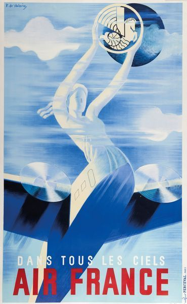 Air France dans tous les ciels - 1935 - illustration de Roger de Valério -