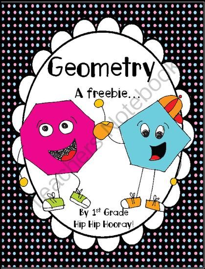 Geometry FREEBIE...great for math activity or in math center...GOOD FOR  1st or review for 2nd on up