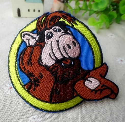 Alf-o eteimoso iron on patches single fabric clothes patch stickers embroidery wholesale 100pcs/lot Free shipping
