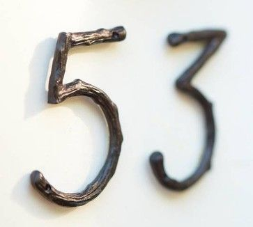 Nice touch for a rustic home.  Branch House Numbers - eclectic - house numbers - - by Pottery Barn
