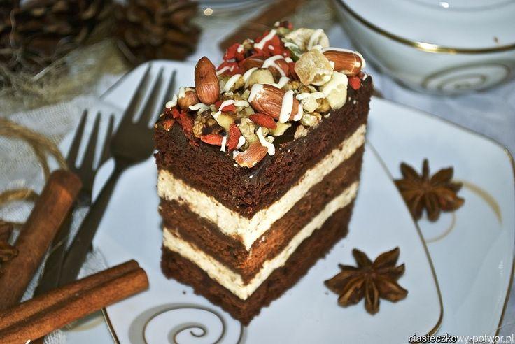 Ciasto korzenne z masą grysikową