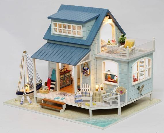 Caribbean Sea Diy Miniature House Kit In 2020 Diy Dollhouse Dollhouse Miniatures Diy Dollhouse Furniture Kits