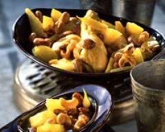 Photo de Tajine de poulet aux amandes et noix de cajou