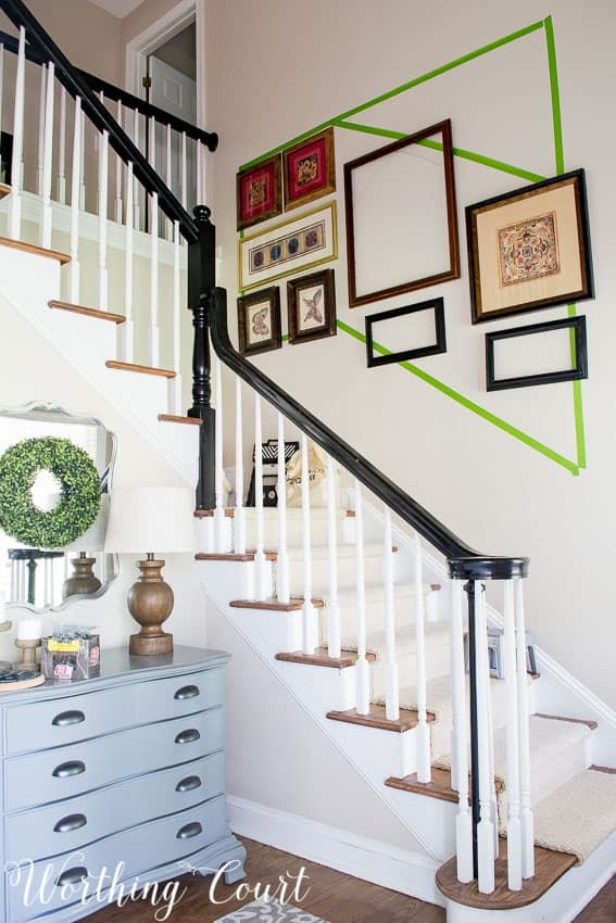 How To Arrange A Stairway Gallery Wall Gallery Wall Staircase