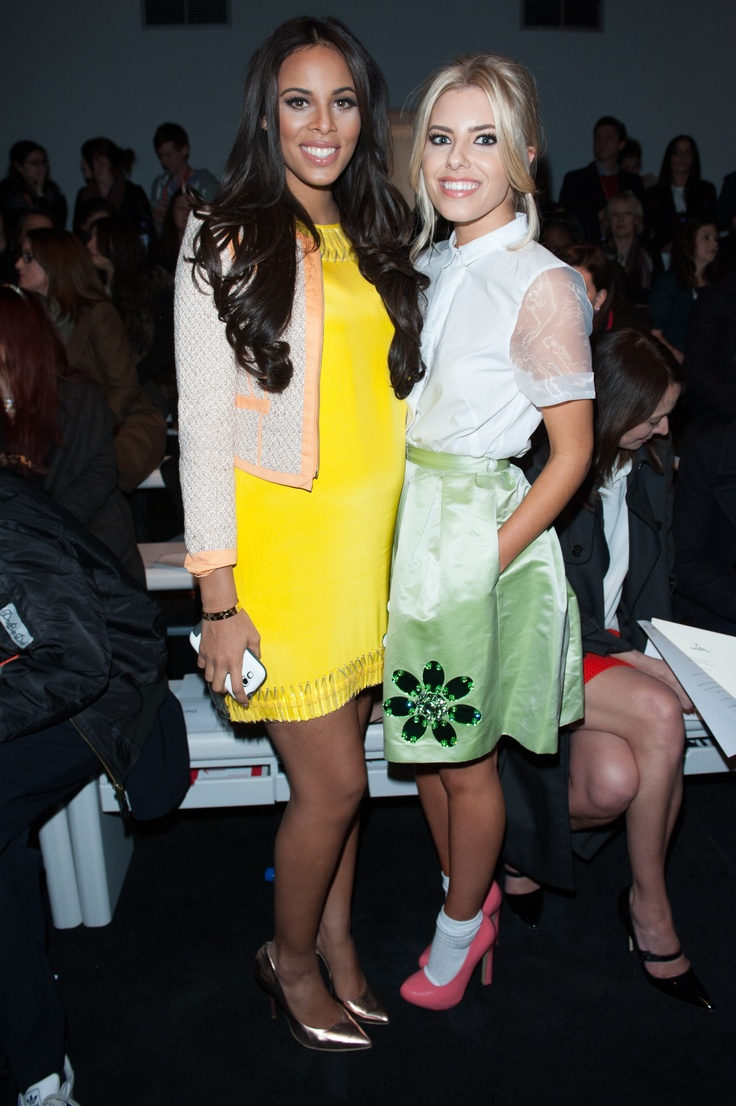 Rochelle Humes & Mollie King at the AW 13 show (The Saturdays)