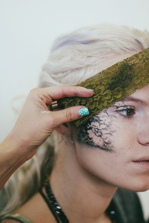 Halloween Makeup Tutorial! Find out how to do an easy alternative lace mask! | See more about Lace Mask, Halloween Makeup Tutorials and Makeup Tutorials.