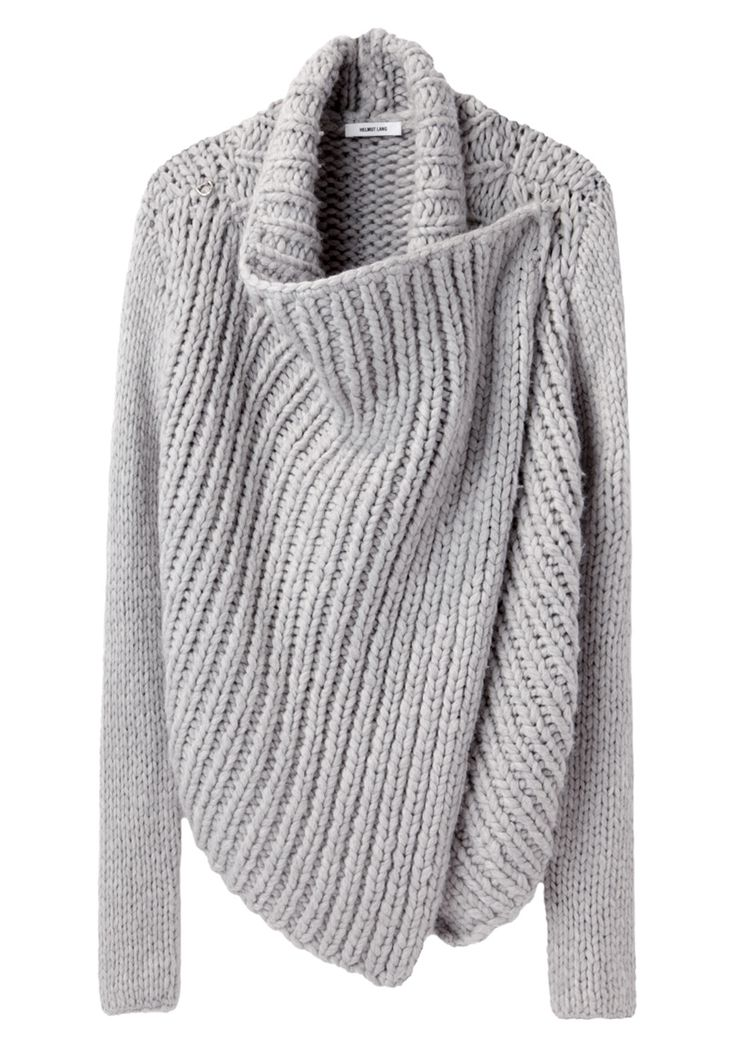 Beautiful. Helmut Lang / Shawl Cardigan--maybe someone could come up with a pattern?