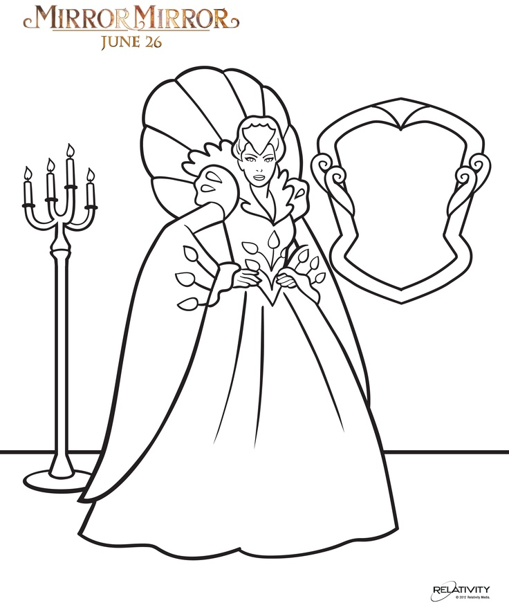 put some snazz into the mirror mirror coloring pages