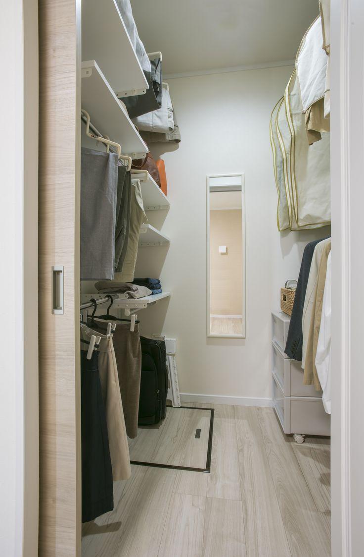 衣類管理がしやすいクローゼット  #クローゼット #ウォークイン #収納