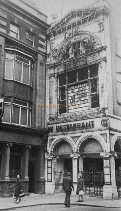 The Capitol Theatre, Dublin - Courtesy Des Kerins It was beautiful so they pulled it down.