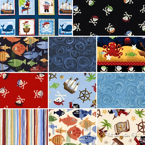 Pirates by Makower UK for Andover Fabrics | Boys will be Boys ... : fabric for quilting uk - Adamdwight.com