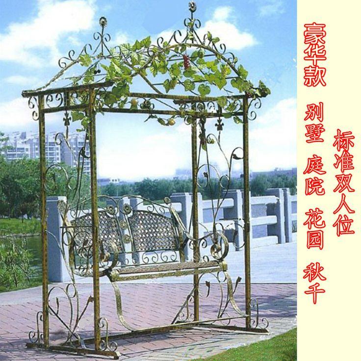Цветы пределами шейкер гнездо висит стулья двор терраса в саду на открытом воздухе взрослых белый кованого железа двойные качели - Taobao