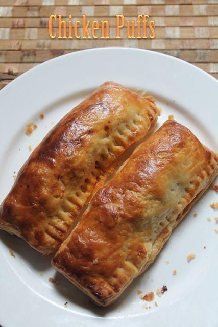 YUMMY TUMMY: Indian Chicken Puffs Recipe - Bakery Style