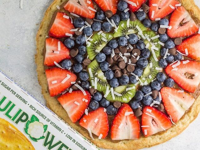 Blumenkohl Pizza Rezept | Fruchtpizza | CAULIPOWER Kruste   – Healthy Food