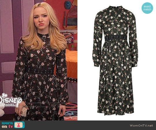 Liv's black floral long sleeved dress on Liv and Maddie. Outfit Details: https://wornontv.net/58135/ #LivandMaddie (altered) Buy it here: http://wornon.tv/36479