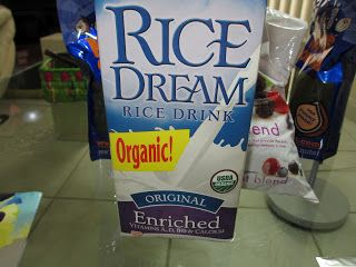 rice or hemp milk or almond (up to you, don't suggest caw milk :((()