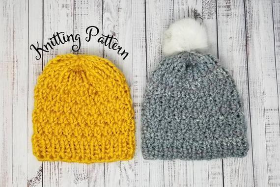 Knitting Pattern Pom Pom Hat Pattern Haystacks Knitted Etsy Knitting Patterns Knit Beanie Pattern Knitted Hats Kids