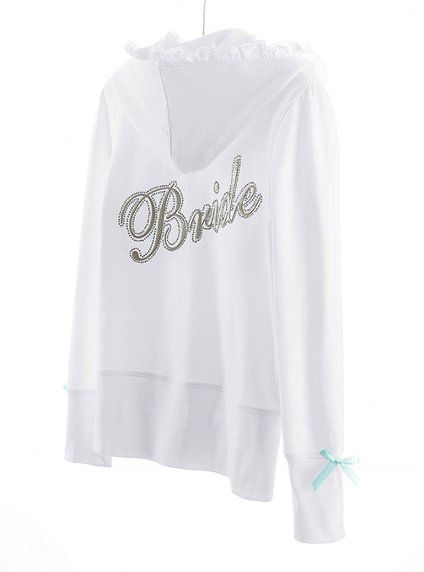 Adorable Bride hoodie - totally want one!Brides Hoodie, Bridal Bling, Blue Bows, Bling Bridal, Wedding, Brides Sweatshirts, Bling Hoodie, Bridal Hoodie, Adorable Brides