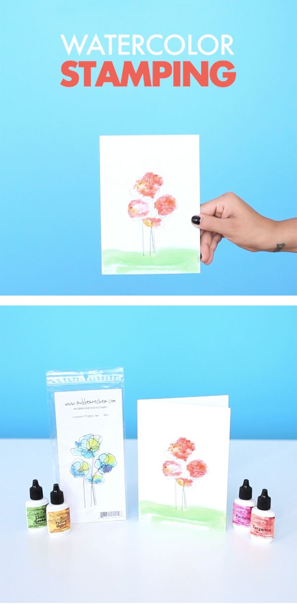 Marvelous Card Making Ideas And Techniques Part - 4: Rubbernecker Stamps Make It Easy To Create Beautiful Watercolor Floral  Designs That Are Unique Each And. Watercolor IdeasWatercolor CardsWatercolor  ...