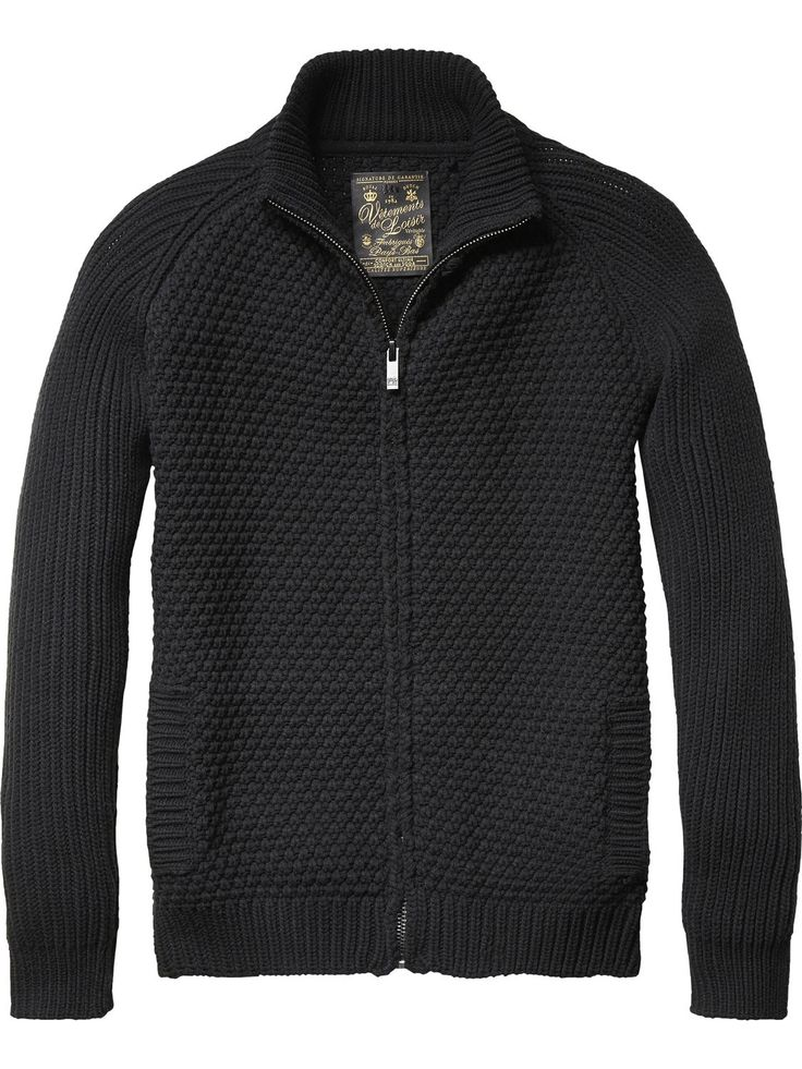 Cardigan zippé| Pull | Habillement Homme Scotch & Soda