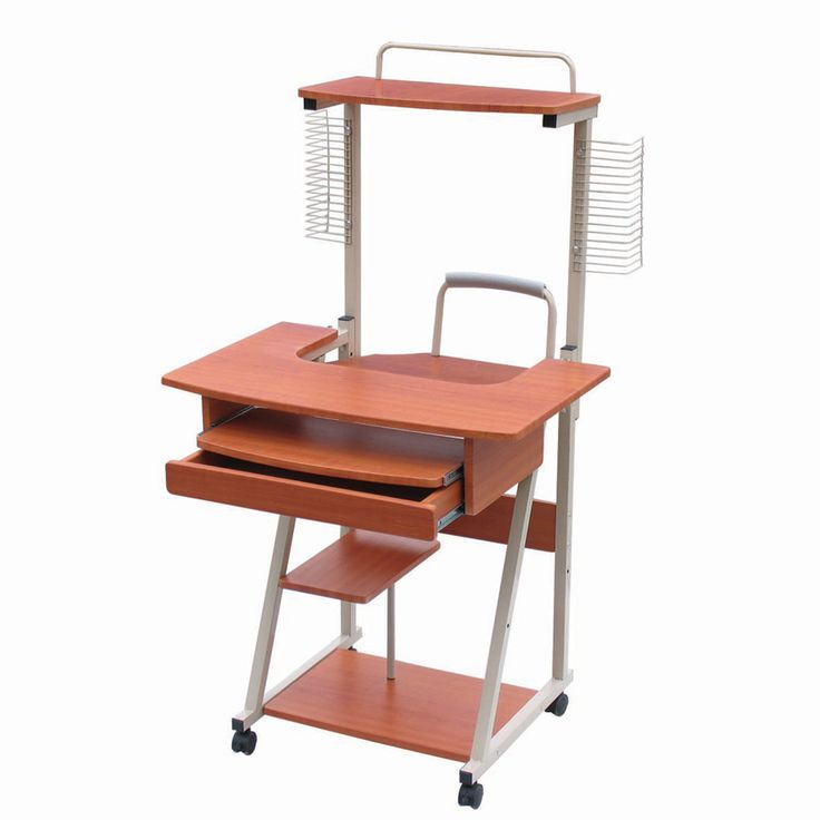 computer desks on wheels for small spaces