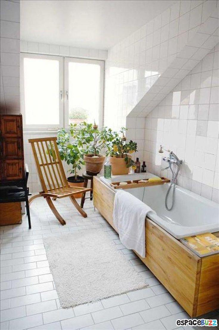 Les 25 meilleures id es de la cat gorie tablier baignoire sur pinterest tab - Tablier baignoire bois ...