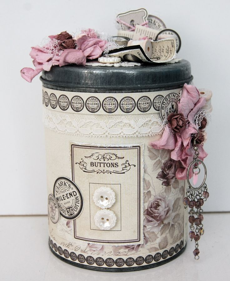 altered tin can *Pion design* - Scrapbook.com