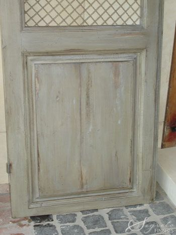 dry brushed grey - LOVE! This would be stunning for bathroom cabinets