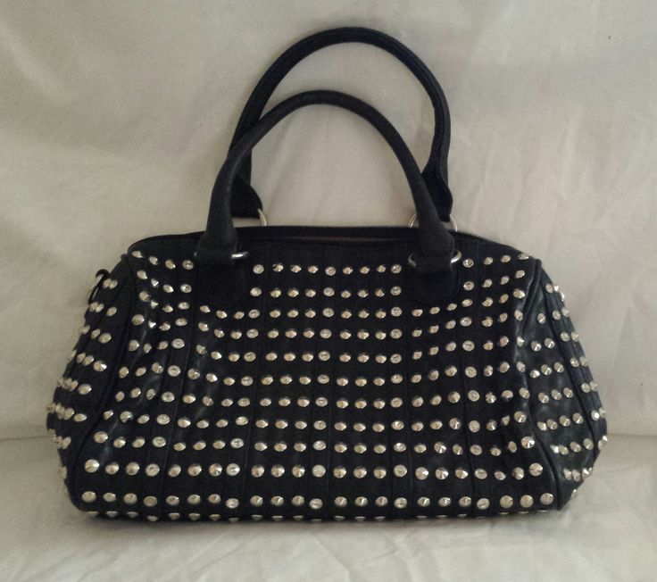 """AGTS"" Logo Diamantes and Gold Studs Handbag $80.00"