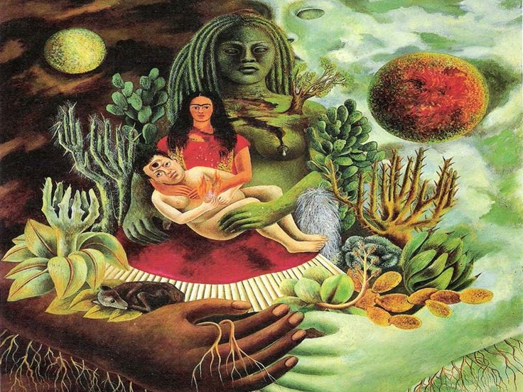 The Love-Embrace of the Universe 1949 by Frida Kahlo: