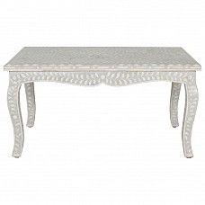 Elegant bone inlay side table - Trade Secret