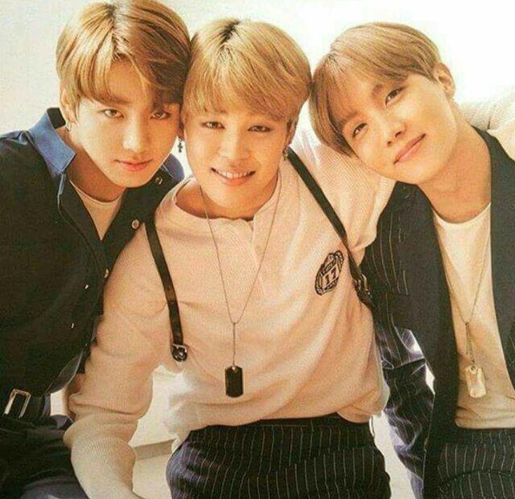 Jungkook, Jimin, and Hoseok