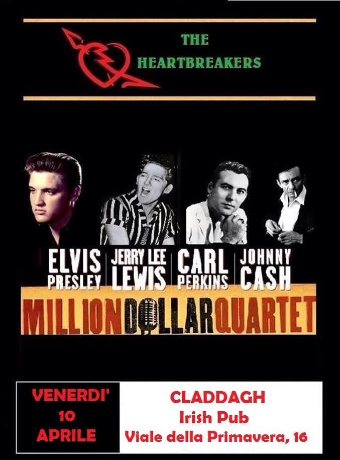 The Heartbreakers - Million Dollar Quartet al Claddagh Irish Pub Rome (10 aprile 2015) Concerto di Musica , Musica Live Roma