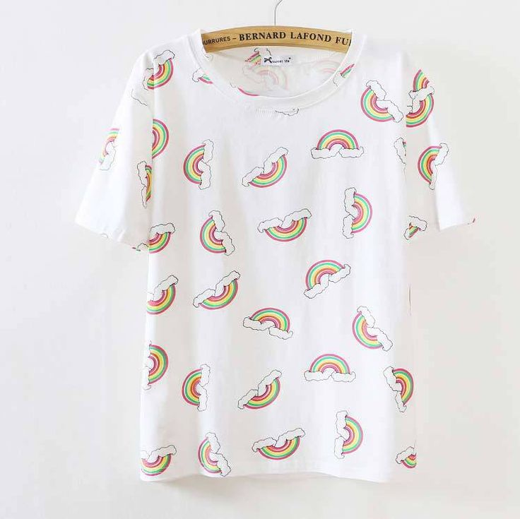 Sheinside wanita puncak busana musim gugur 2015 Cropped Top T shirt kasual, Korean putih lengan pendek lucu loli dicetak T Shirt-inT-Shirts from Women's Clothing & Accessories on Aliexpress.com | Alibaba Group