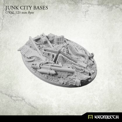 This set contains 1 oval 120 mm flyer version scenic base. Junk City theme