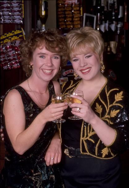 Michelle Fowler & Sharon Watts, played by Susan Tully & Letitia Dean