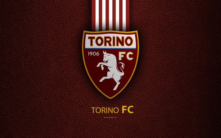 Download wallpapers Torino FC, 4k, Italian football club, Serie A, emblem, logo, leather texture, Turin, Italy, Italian Football Championships