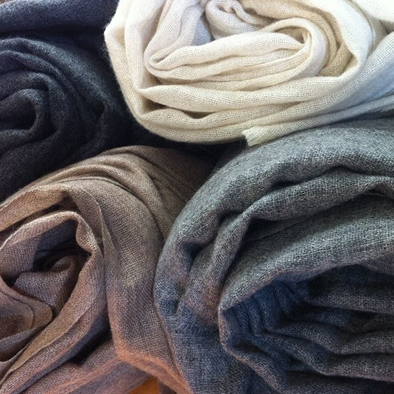 The ultimate light layer of warmth. Cashmere Wraps from James & Hill in store at 5ifty