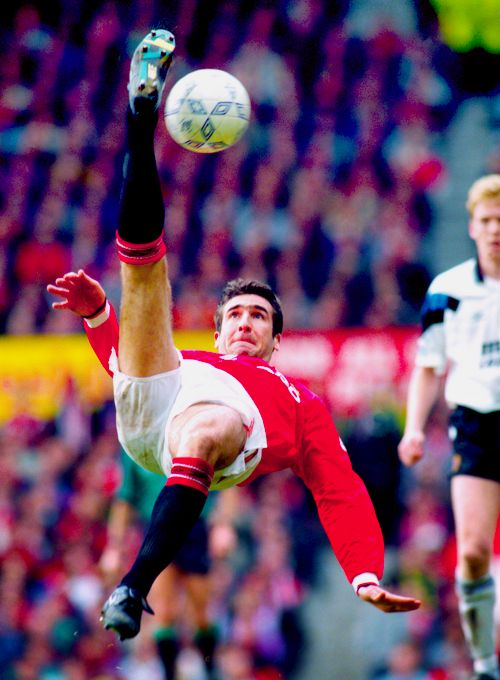 Eric Cantona vs Aston Villa at Old Trafford