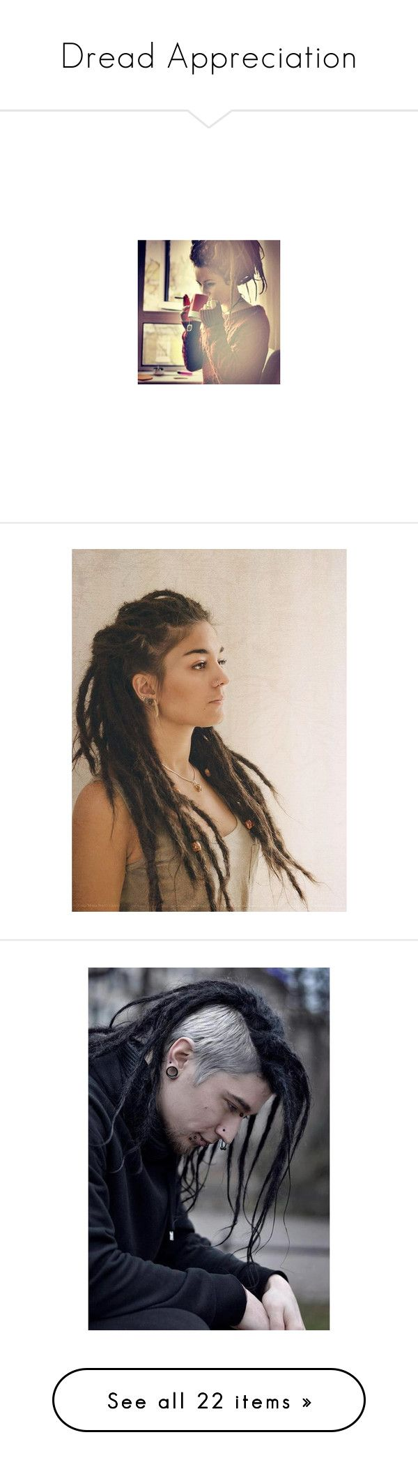 """Dread Appreciation"" by demi-wildflower ❤ liked on Polyvore featuring dreadlocks, hair, people, pictures, accessories, hair accessories, beauty products and brown hair"
