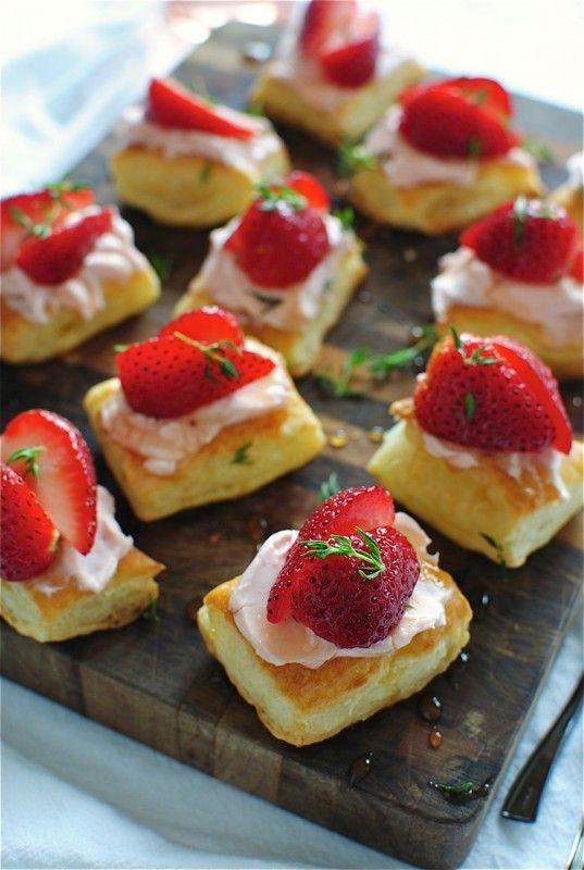 Strawberry Pastry Bites / Bev Cooks | Desserts-Other | Pinterest ...