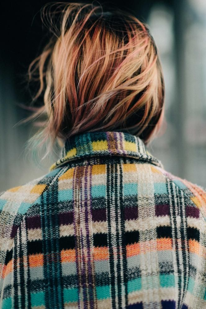 I like the idea of an oversized boiled wool coat in a deep colored plaid