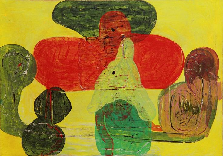Mind Map #9 (2011) Painting by Norwegian artist Øyvind Suul. #art #painting #suul #2D #Norway