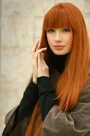 red hair orange lipstick - Google Search