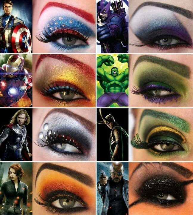 8 halloween super makeup suggestions the avengers eyes makeup - Eyeshadow For Halloween