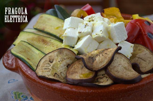 INSALATA DI VERDURE GRIGLIATE E FETA fragolaelettrica.com Le ricette di Ennio Zaccariello #Ricetta