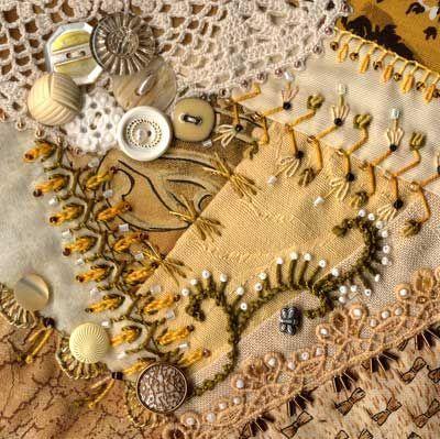 Tips for Crazy quilting seam embellishment.