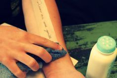 DIY tutorial: make your own temp tattoo to decide if you like design and placement