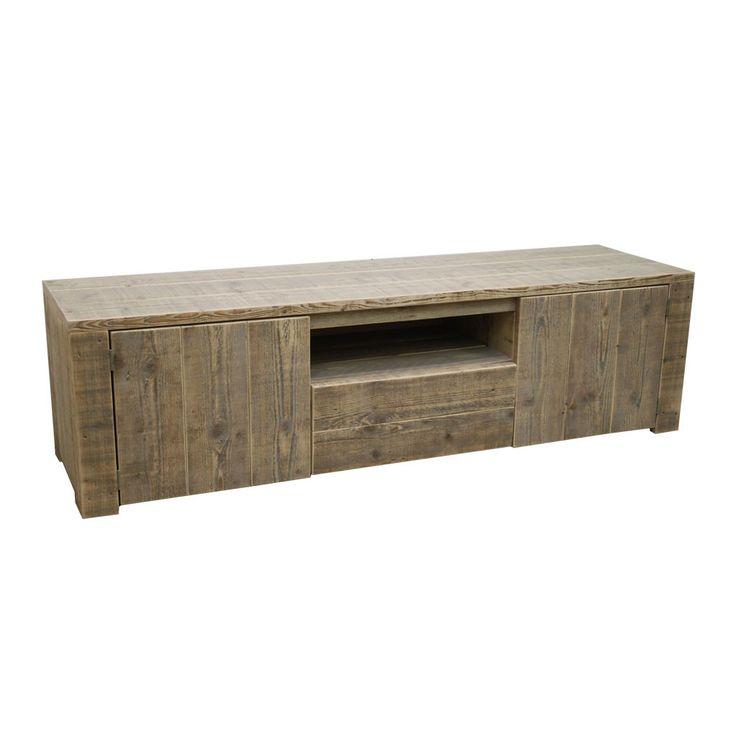 Steigerhouten TV meubel Martin op Pinterest   Steigerhoutstunter