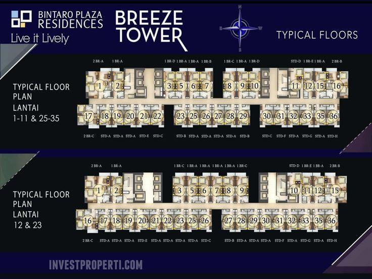 Breeze Tower Bintaro Plaza Residence Floor Plan